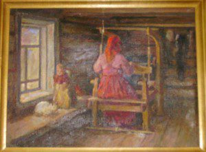 Крестьянка за ткацким станком. (1967 г.)