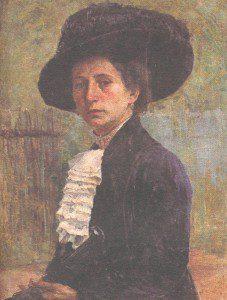 Портрет Е.Д.Беляевой (1916 г.) Холст. Масло. 77х58