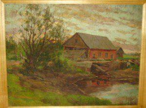 Разрушенная мельница (1912 г.) Холст. Масло. 31х41