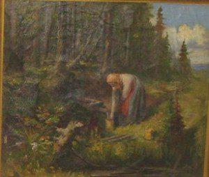 Девушка у ручья» (1909 г.)