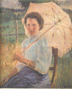 Под зонтиком (1911 г.)